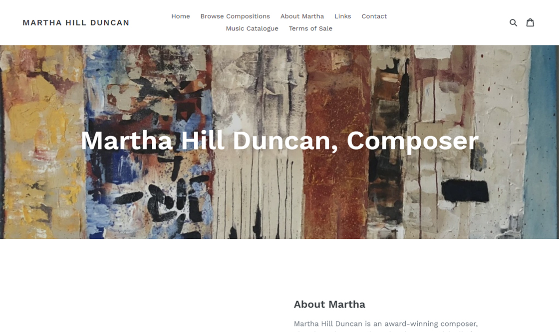 Shopify: Martha Hill Duncan
